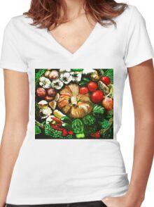 The Harvest Women's Fitted V-Neck T-Shirt