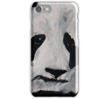 Panda Black And White China Zoo Bear Acrylic Painting iPhone Case/Skin