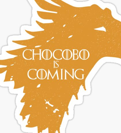 Chocobo is Coming Sticker