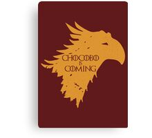 Chocobo is Coming Canvas Print