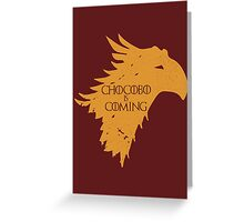 Chocobo is Coming Greeting Card