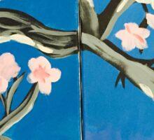 Japanese Cherry Blossoms Sticker