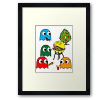 Pac Man is dead, so let's barbecue! Framed Print