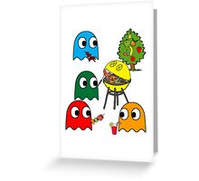 Pac Man is dead, so let's barbecue! Greeting Card