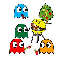 Pac Man is dead, so let's barbecue! Photographic Print