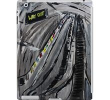 London Underground Escalators Urban City Acrylic Painting  iPad Case/Skin