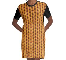 Knitted pattern Graphic T-Shirt Dress
