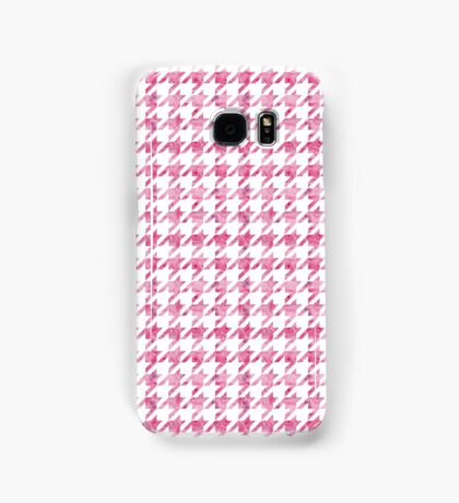 Pink Watercolor Houndstooth pattern Samsung Galaxy Case/Skin