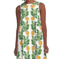 Orange Blossoms A-Line Dress