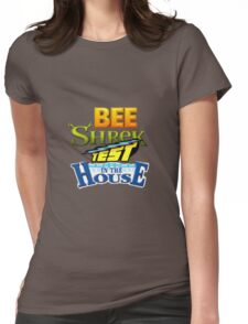 Bee Shrek Test in the House Logo Womens Fitted T-Shirt