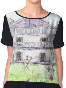 Doctor's House, Old Leprosy Colony, Curieuse Island Chiffon Top