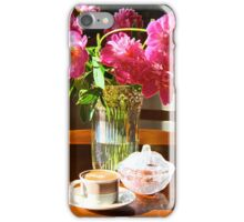 Morning's coffee with peons aroma iPhone Case/Skin
