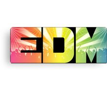 EDM Rainbow Canvas Print