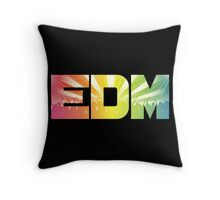 EDM Rainbow Throw Pillow