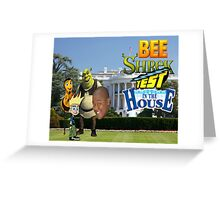 Bee Shrek Test in the House Design Greeting Card