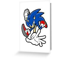 Stylistic Sonic Greeting Card