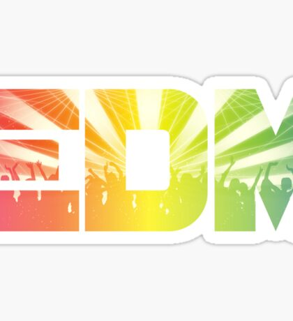 EDM Rainbow Sticker