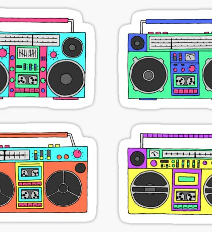 80s boomboxes Sticker