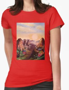 Cacti and Canyons Womens Fitted T-Shirt