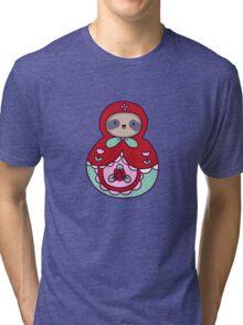 Russian Doll Sloth Tri-blend T-Shirt