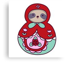 Russian Doll Sloth Canvas Print