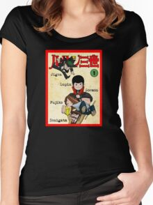 Vintage Lupin Comics Women's Fitted Scoop T-Shirt