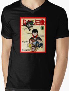 Vintage Lupin Comics Mens V-Neck T-Shirt