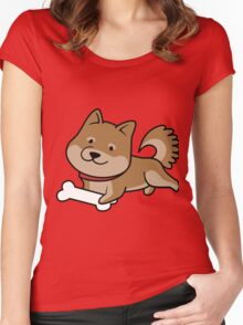 Playful Shiba Women's Fitted Scoop T-Shirt