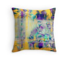 Orchids in Oil Drops — Series I — Oncidium Throw Pillow