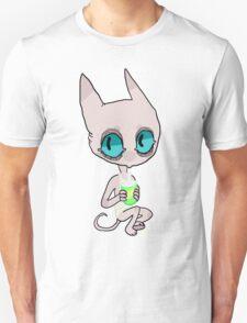 cute cat lady drinkin soda T-Shirt