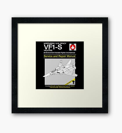 VF-1 Service and Repair Framed Print