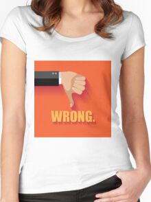 Wrong thumbs down flat design Women's Fitted Scoop T-Shirt
