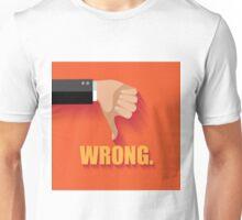 Wrong thumbs down flat design Unisex T-Shirt