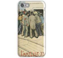Les Marionnettes de la Vie 1890 - L'Article 330 iPhone Case/Skin