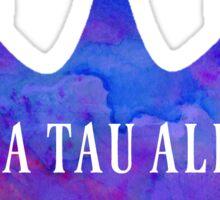 Zeta Tau Alpha Crown Watercolor Sticker
