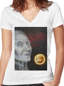 Self-Exploration and Reflection Women's Fitted V-Neck T-Shirt