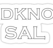Hardknocks Sal Sticker