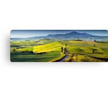 View from Pienza at dawn Canvas Print