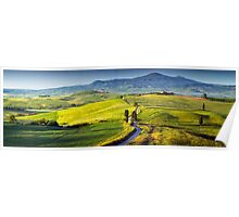 View from Pienza at dawn Poster