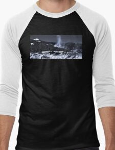 Snow Clouds - Mountain Ski Town Men's Baseball ¾ T-Shirt