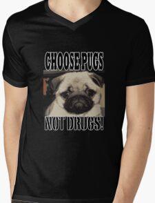 choose pugs not drugs Mens V-Neck T-Shirt