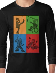 Britcom Brilliance - Brent, Fawlty, Jack & Trotter Long Sleeve T-Shirt