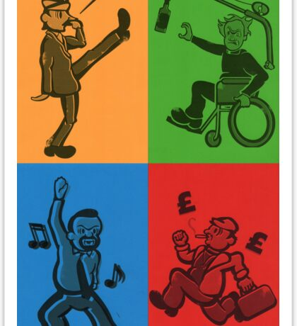 Britcom Brilliance - Brent, Fawlty, Jack & Trotter Sticker