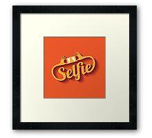 Selfie Design Element EPS 10 vector Framed Print