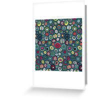 Honolulu hoops chevron blue Greeting Card