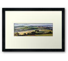 Val DOrcia, morning panoramic Framed Print