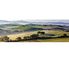 Val DOrcia, morning panoramic Photographic Print