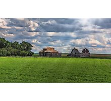 Homestead on the Prairies Photographic Print