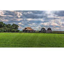 Homestead on the Prairies Photographic Print