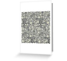 Honolulu hoops indigo cream Greeting Card